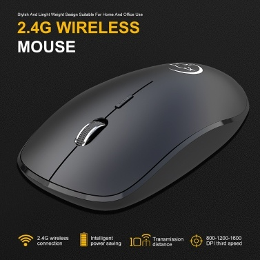 YWYT G834 2.4G Wireless Mouse Gaming Mouse Ergonomische Büromaus mit 3 einstellbaren DPI-USB-Empfängern für Laptops
