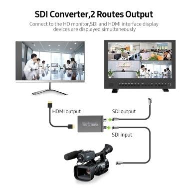 NK-M008 Micro SDI Converter SDI to HDMI/SDI to SDI 2 Routes Output Mini HD 1080P USB Powered Converter