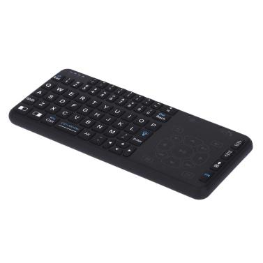 Rii RT504 2.4G Wireless Handsender Mini Ultra Slim Thin Multifunktions-Multimedia Von hinten beleuchtete Tastatur mit Touchpad Trackpad Maus kombiniert für Mac Desktop-Laptop PC Andriod Fernsehkasten