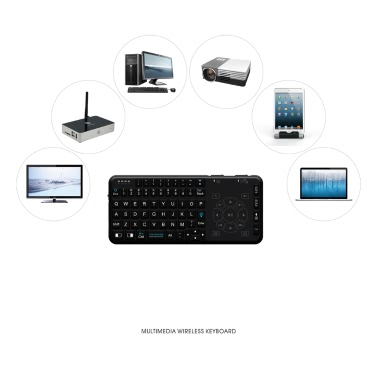 Rii RT504 2.4G Wireless Handheld Remote Mini Ultra Slim Thin Multifunction Multimedia Backlit Keyboard with Touchpad Trackpad Mouse Combo for Mac Desktop Laptop PC Andriod TV Box