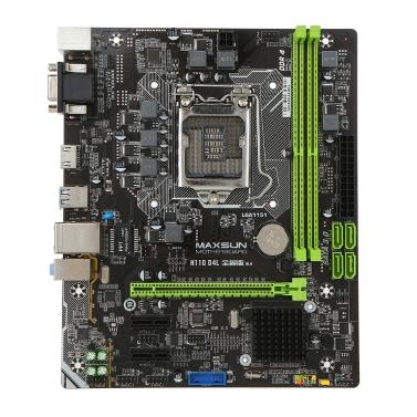 MAXSUN MS-H110D4L für Intel H110 LGA 1151 Sockel Desktop Computer Mainboard Motherboard SATA 6 GB / s USB 3.0 Spiele DDR4 M-ATX