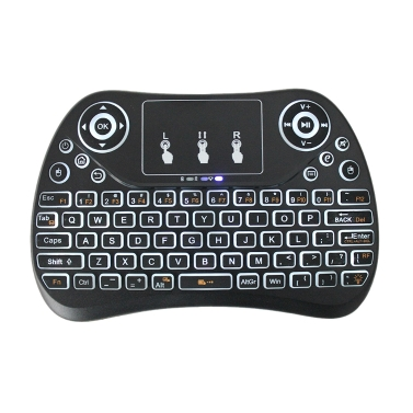 T2 Portable 2.4G Mini Keyboard Touchpad with Backlit,limited offer $11.99
