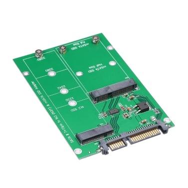 M.2 NGFF SATA Adapter Card MSATA SSD SATA III Converter Support 2230 2242 2260 2280