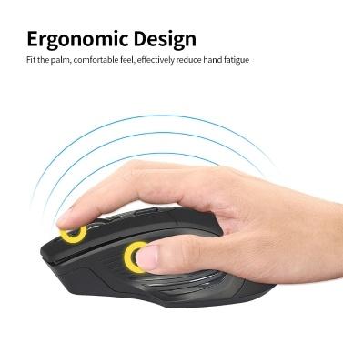 YWYT G838 2,4 GHz Wireless Mouse Gaming Mouse 2400DPI Optische Maus Ergonomische Wireless Mouse für Desktop-Laptops