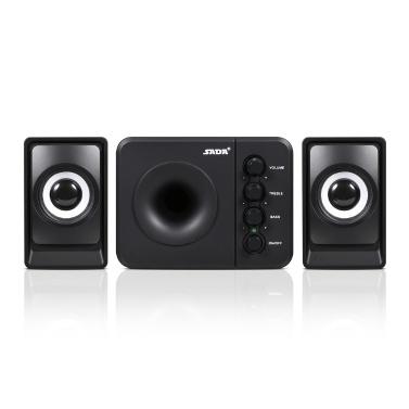 D-205 Active Speaker Computer Speaker Stereo Input Speaker USB-powered Speaker 3.5mm Audio Speaker Black