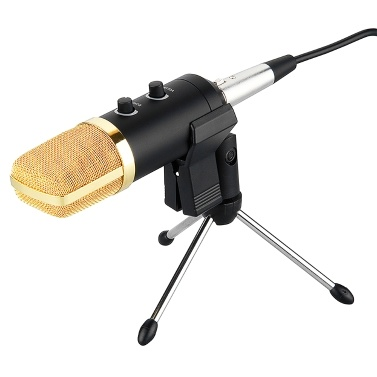 Professional Studio Microphone USB Condenser Sound Recording Microphone Cardioid Studio Recording Mic PC Laptop Black
