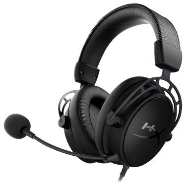 Kingston HyperX Cloud Alpha S Gaming Headset Dual Sound Cavity Headphone with 7.1 Surround Sound Detachable Microphone Black