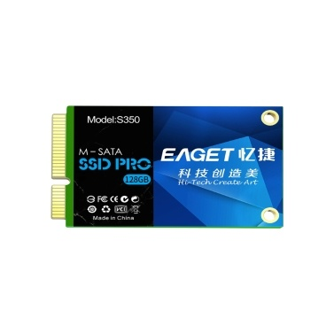 EAGET S350 SSD M-SATA Solid State Drive High Speed Transmission Compact Slient Shockproof SSD for PC Laptop