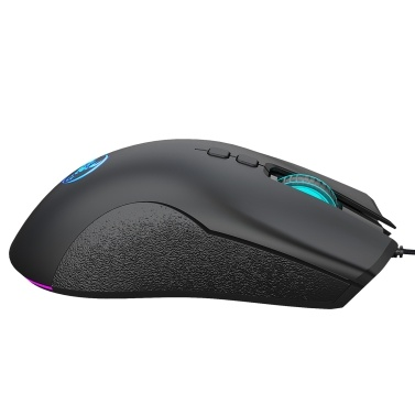 HXSJ A883 Wired Gaming Mouse  7 Buttons Gaming Mouse with Four-level Adjustable DPI Erogonomcic Design for Dsektop Laptop Black