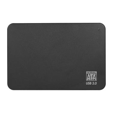 Tragbare externe 2,5-Zoll-Festplatte USB 3.0-Festplatte Hohe Übertragungsgeschwindigkeit / Plug & Play / für PC / Laptop / Desktop Schwarz 1 TB
