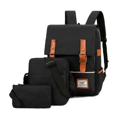 Große Kapazität Computer Rucksack Fashion Business Bag Outdoor Freizeit Reisetasche Set mit externem USB Port Weinrot
