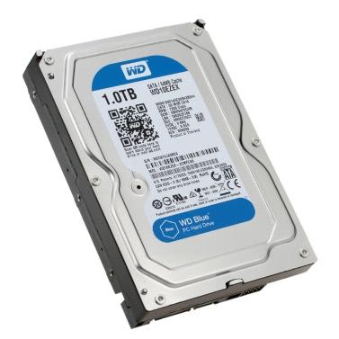 Western Digital WD Blue 1TB Desktop HDD interne Festplatte 5400rpm SATA 6Gb/s 64MB Cache 3,5-Zoll WD10EZRZ