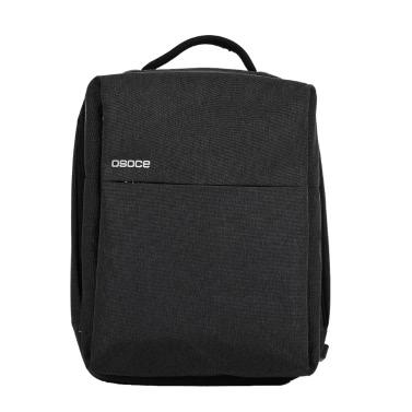 OSOCE S7 Computer Rucksack Laptop Tablet PC Tasche Wasserdicht mit USB Ladeanschluss für bis zu 15,6 Zoll Laptop schwarz