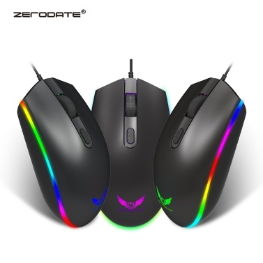 39% OFF ZERODATE S900 Computer Mouse 1600DPI RGB LED Backlight,limited offer $5.99