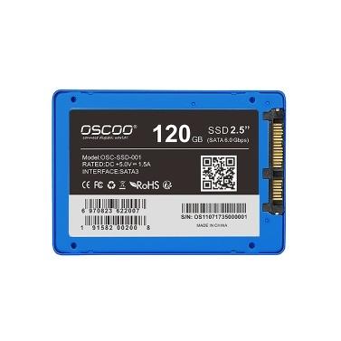 """OSCOO SATA III 6 Gbit / s 2,5 """"/ 7 mm 120 G internes Solid-State-Laufwerk SATA3 SSD für PC Laptop Desktop"""
