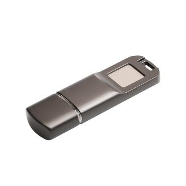 USB2.0 Fingerprint Encryption USB Flash Disk High Speed U Disk Encrypted Memory Metal Design for Business/Personal Data Security (Silver)
