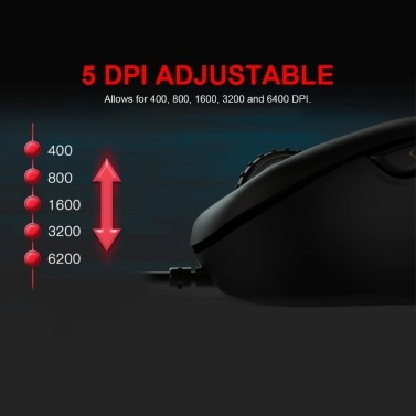 Motospeed V100 Professional USB Wired Gaming Mouse Esport Game Mice 6200DPI RGB Light for PC Laptop(Black)