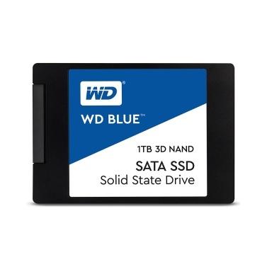 Western Digital WD Blau 1 TB PC SSD 3D NAND SATA3 6 GB / s 2,5-Zoll-Solid-State-Laufwerk Festplatte für PC-Laptop (WDS100T2B0A)