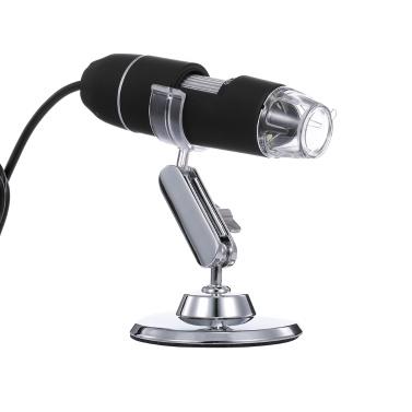 Tragbares Digitalmikroskop 50X bis 1000X Zoom HD-Mikroskop 3 in 1 USB-Lupe 8 LED leuchtet schwarz