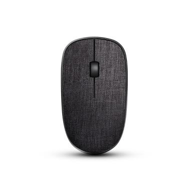 Rapoo 3500Pro Cloth Cover 1000DPI Wireless Optical Mouse Ergonomic Portable Mice for PC Computer Laptops Black