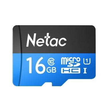 Netac P500 Klasse 10 16G Micro SDHC TF Flash-Speicherkarte Datenspeicher UHS-1 High Speed Bis zu 80 MB / s