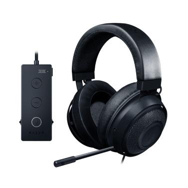 Razer Kraken Tournament Edition Gaming-Headset Kopfhörer Kopfhörer THX Spatial Audio Volle Audiosteuerung Kühlgel Spiel- / Chatbalance mit USB-Dongle Schwarz