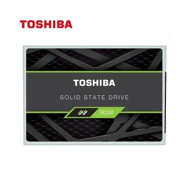 SSD-Festplatte der Serie TR200 von Toshiba mit 2,5-Zoll-SATA-Anschluss und 64-lagigem 3D-BiCS-FLASH mit 555 MB / s und einer Lesegeschwindigkeit von 540 MB / s und einer Schreibgeschwindigkeit von 960 GB