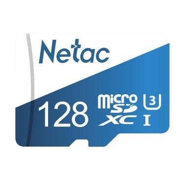 Netac P500 Classe Ultramarino Classe 10 Micro SDXC Cartão TF Cartão de Memória Flash de Armazenamento de Dados 80MB / s 128GB