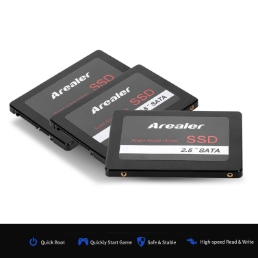 Arealer 2.5inch Solid State Drive SATA3.0 SSD Solid State High Speed Storage for Desktop Laptop Black 2TB