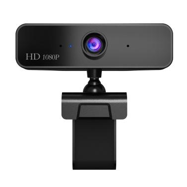 HXSJ S2 HD 1080P Webcam Microfone embutido Câmera de alta qualidade para chamadas por vídeo na Web para laptop PC (Preto)