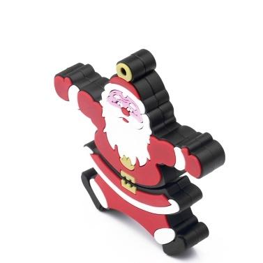 Creative Christmas Series U-Festplatte Portable USB 2.0-Hochgeschwindigkeitsübertragung U-Festplatte Santa Claus U-Festplatte 128 GB