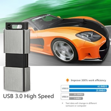 EAGET F90 Metal U Disk 128GB USB3.0 Portable Flash Drive High Speed Retractable Business U Disk for PC Laptop