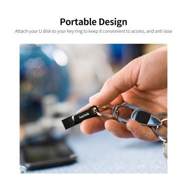 SanDisk Ultra Dual Drive Go Portable U Disk USB3.1 Dual-port USB Flash Drive 32GB High-speed Type-C U Disk for Phone PC Laptop