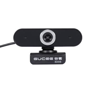 GUCEE HD98 Webcam Manual de 12MP Câmera Web Focus Microfone Embutido Câmera Plug & Play sem drive para Laptop de Mesa Preto