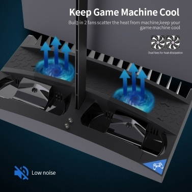 IPEGA Game Vertical Stand 6 in 1 Multifunctional Cooling Fan Headphone Holder