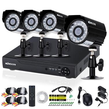 KKmoon 4CH Kanal Full AHD 1080 N / 720 P 1500TVL CCTV Überwachung DVR Sicherheitssystem