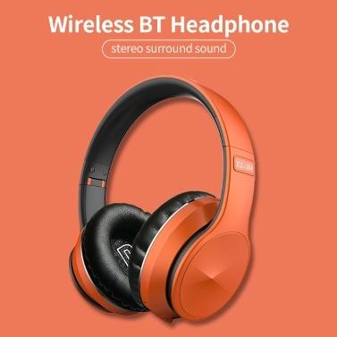 EL-B4 Wireless BT Headphone Foldable Portable Stereo Headset Sports Gaming TF/FM Mode Earphone for Phone/Laptop/PC Black
