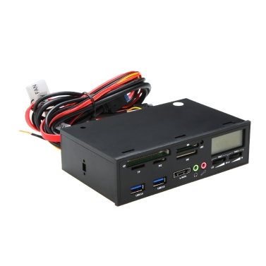 "5,25 ""USB 3.0 e-SATA All in 1 PC Mittel Armaturenbrett Multifunktions Frontblende Card Reader I / O-Ports"