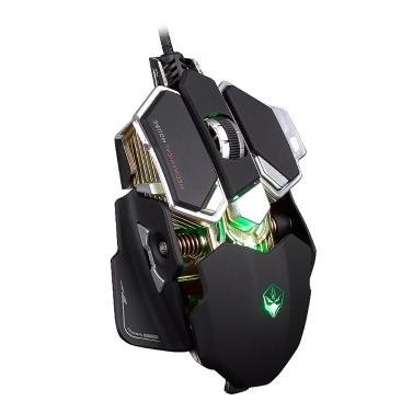 9 pulsanti 4 colori che emettono LUOM USB cablato Macro mouse mouse