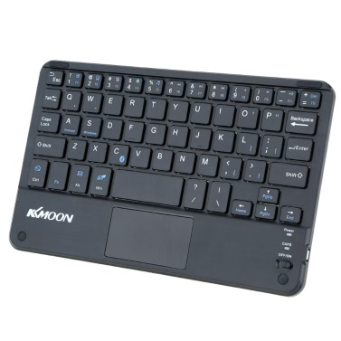 KKmoon 59 Keys Ultra Slim Thin Mini Bluetooth Keyboard