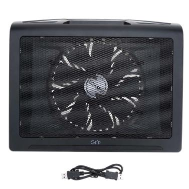 HANJUNG Grip Netz Ultra Ruhig Doppel USB Anschlüsse 17 * 200MM Notebook Laptop Lüfter Abkühlend Kühler Pad Kühlkörper Heizkörper
