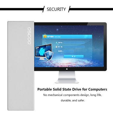 OSCOO Portable Solid State Drive USB Type-C 3.1 External SSD for Computers