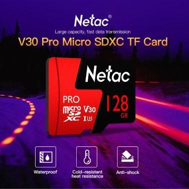Netac 256GB Pro Micro SDXC TF Memory Card Data Storage V30/UHS-I U3 High Speed Up to 100MB/s