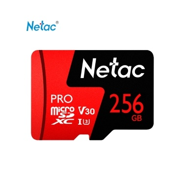 Netac 256 GB Pro Micro SDXC TF-Speicherkarte Datenspeicher V30 / UHS-I U3 Hohe Geschwindigkeit Bis zu 100 MB / s