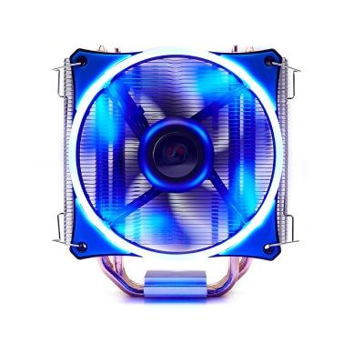 SOPLAY CPU Kühler 4 Heatpipes 4pin 12cm Leiser LED Lüfter für Intel LGA 115X AMD Alle Serien