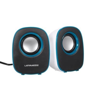 Musik-Lautsprecher Desktop-Lautsprecher Mini-Musik-Lautsprecher mit 3,5-mm-Klinke für Laptop / MP3 / Smartphones (Weiß + Blau)