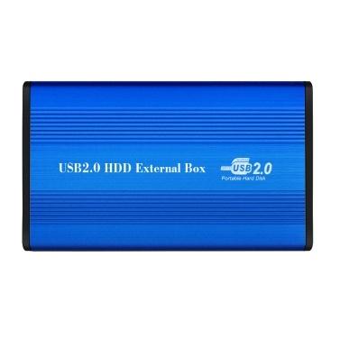 USB2.0 zu IDE-Festplattengehäuse 2,5-Zoll-IDE-Festplattengehäuse Tragbare Festplattenbox Aluminiumlegierungs-Festplattengehäuse Schwarz