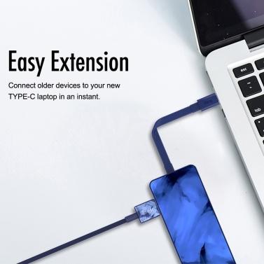 iFory 4-in-1-USB-Typ-C-Hub-Adapterkonverter USB-C-Anschluss mit USB 3.0 / 4K-HD- / VGA / RJ45-Ethernet-Anschluss