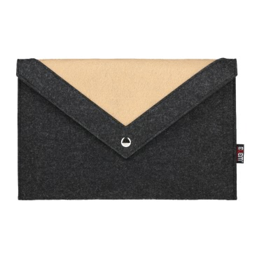 BUBM Laptop Tasche für 15,4 Zoll Macbook Pro Notebook Tragetasche Wolle Filz Computer Cover Schwarz