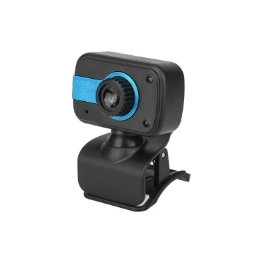Portable HD Webcam 480P 30fps Camera with Mount Clip Microphone intégré Notebook Laptop PC Desktop Computer Web Video Camera USB Plug & Play for Conferences Online Meeting Video Call Live Streaming